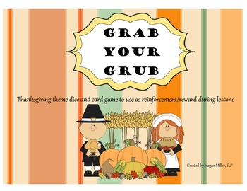 Thanksgiving Theme Game - Grab Your Grub