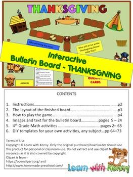Thanksgiving Theme Interactive Bulletin Board