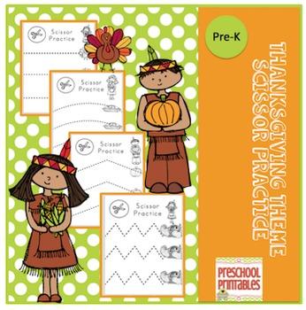 Thanksgiving Theme Scissor Practice