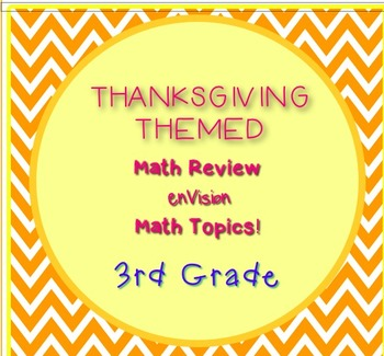 Thanksgiving Themed 3rd Grade enVision Math Questions 30 t