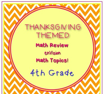 Thanksgiving Themed 4th Grade enVision Math Questions 30 t