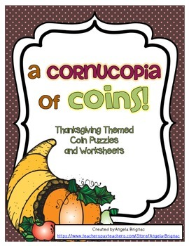 Thanksgiving Themed Coin Practice {Cornucopia Coin Workshe