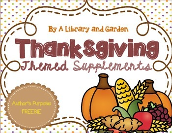Thanksgiving Themed FREEBIE for Interactive Literacy Noteb