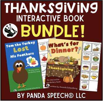 Thanksgiving Themed Interactive Book BUNDLE! 10% Savings