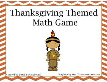 Thanksgiving Themed Multiplication Game
