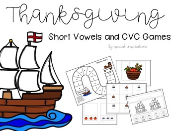 Thanksgiving Themed Short Vowels (a, e, i, o, u) Activities