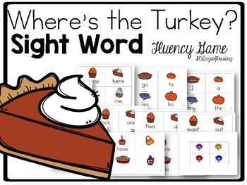 Thanksgiving Themed Sight Word Game Find the Turkey (CCSS