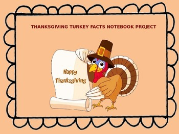 Turkey Facts Notebook Project (Reading Informational Text)