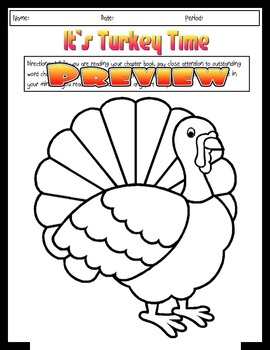 Thanksgiving Themed Word Choice Activity