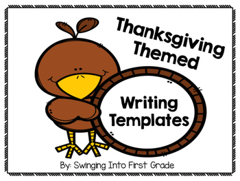 Thanksgiving Themed Writing Templates - Bundle!