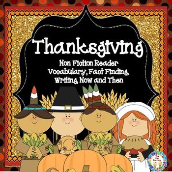 Thanksgiving - Non-Fiction Reader, Fact Finding, Writing {1-2}