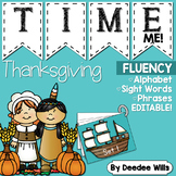 Dolch Word Fluency:  Time Me!  Thanksgiving