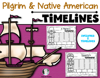 Thanksgiving Timelines {Squanto and Pilgrim} Kindergarten