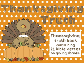 Thanksgiving Truth Book (Bible Verses on Thankfulness)