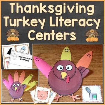 Thanksgiving Turkey Literacy (Alphabet, Phonics, CVC Words