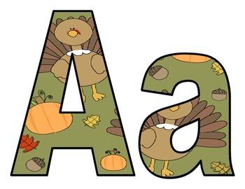 Thanksgiving Turkey BB Letters