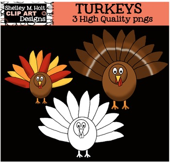 Thanksgiving Turkey Clipart *Free*