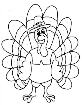 Thanksgiving Turkey Color by Number!