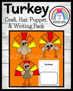Thanksgiving: Turkey Craft, Writing, and Hat Combo Pack