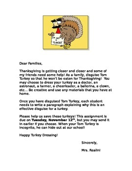 Thanksgiving Turkey Disguise Project