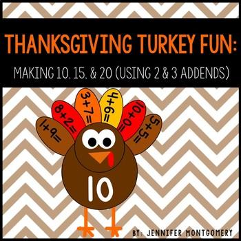 Thanksgiving Turkey Fun: Making 10, 15, and 20 (Using 2 &