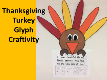 Thanksgiving Turkey Glyph Craftivity
