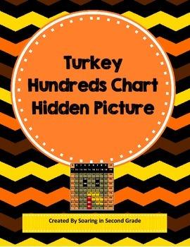 Thanksgiving Turkey Hundreds Chart Hidden Picture Math Pla