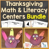 Thanksgiving Turkey Literacy & Math Centers Bundle (Common