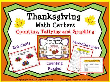 Thanksgiving Turkey Math Centers:  Counting, Tallying & Graphing
