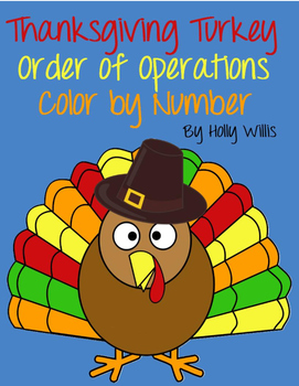 Thanksgiving Turkey Order of Operations Color by Number