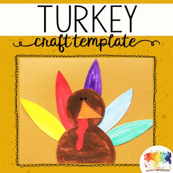 Thanksgiving Turkey Printable Craftivity Template