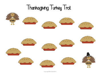 Thanksgiving Turkey Trot Gameboards