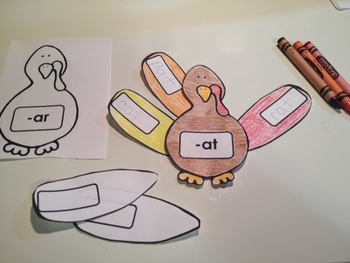 Thanksgiving Turkey - Word Families