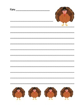 """Thanksgiving Turkey"" Writing Sheets – For Your Common Cor"