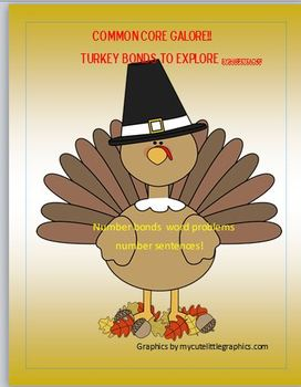 Thanksgiving Math - A Great first grade /Number bond packet!!