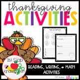 Thanksgiving Unit with Math, Writing, Reading, & Word Work