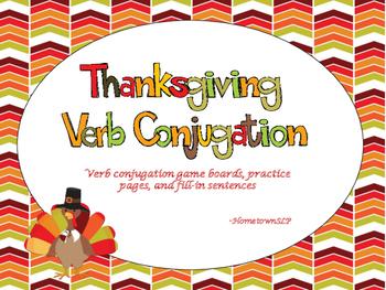 Thanksgiving Verb Conjugation
