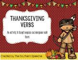 Thanksgiving Verbs