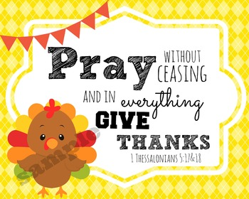 Thanksgiving Verses Printables