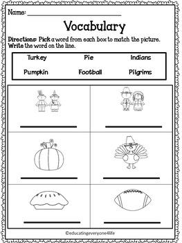 Thanksgiving: Vocabulary