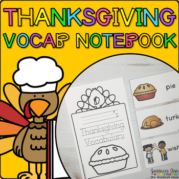 Thanksgiving {Vocabulary Cards and Notebook}