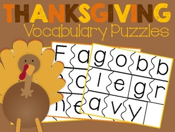 Thanksgiving Vocabulary Puzzes