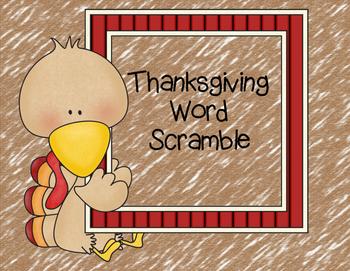 Thanksgiving Word Scramble