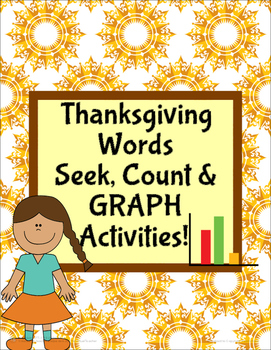 Thanksgiving Words Count, Seek and Graph