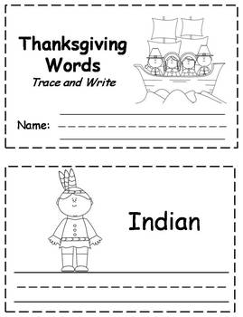 Thanksgiving Words Trace & Write Book