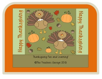 Thanksgiving Wordsearch and Fun Printables