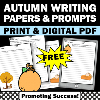 FREE Thanksgiving Creative Writing Papers ELA Literacy Cen