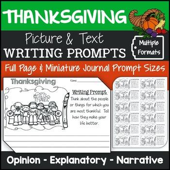 Thanksgiving Writing Prompts {Narrative Writing, Informati