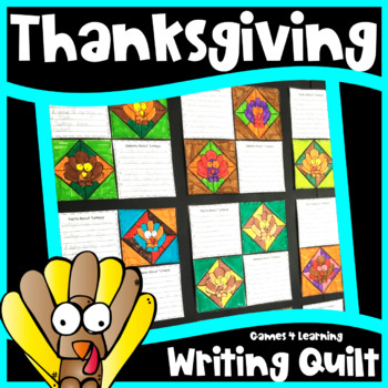 Thanksgiving Activity: Thanksgiving Writing Prompts Quilt