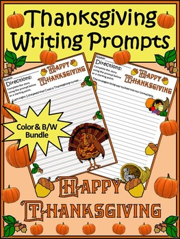 Thanksgiving Activities: Thanksgiving Writing Prompts Acti